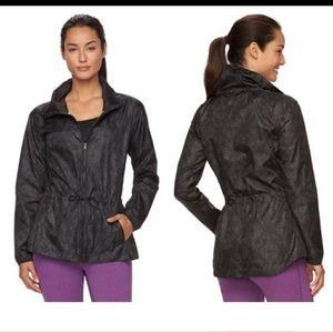 🌸SALE🌸Gaiam Black Cinch Waist Windbreaker Jacket
